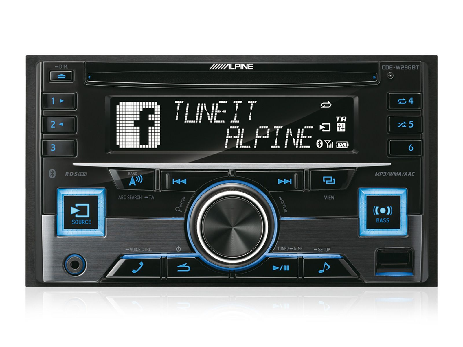 Alpine CDE W296BT –  Bluetooth Radio
