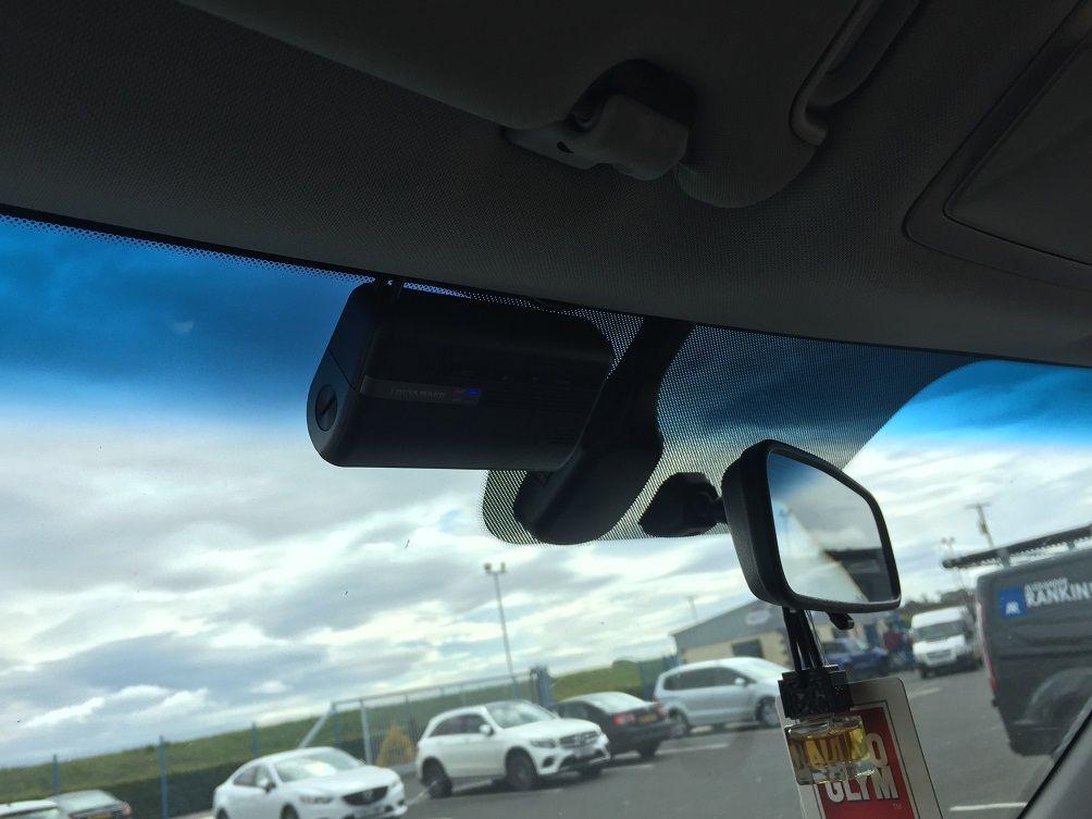 Kia Jeep closer look at front Dash Cam