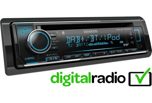 Kenwood KDC BT720DAB Bluetooth and DAB Car Radio