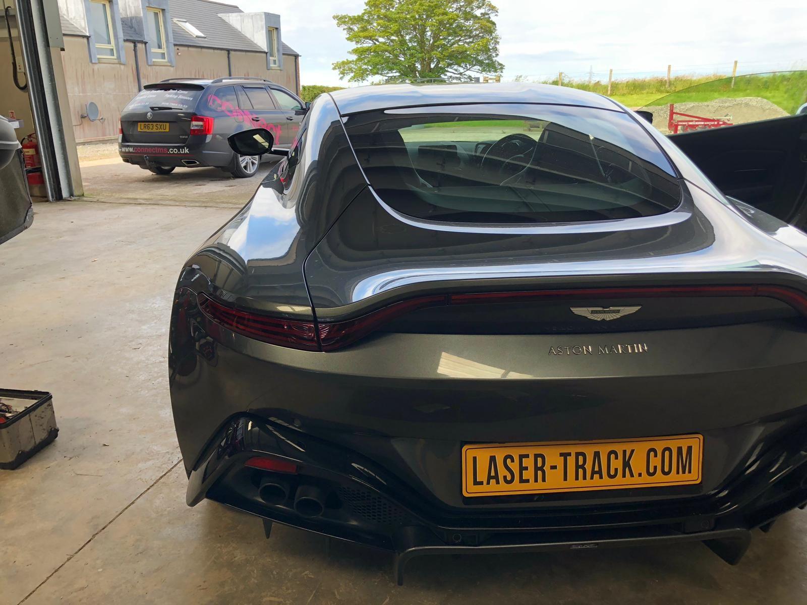 Aston Martin Vantage - Laser Jammer number plate