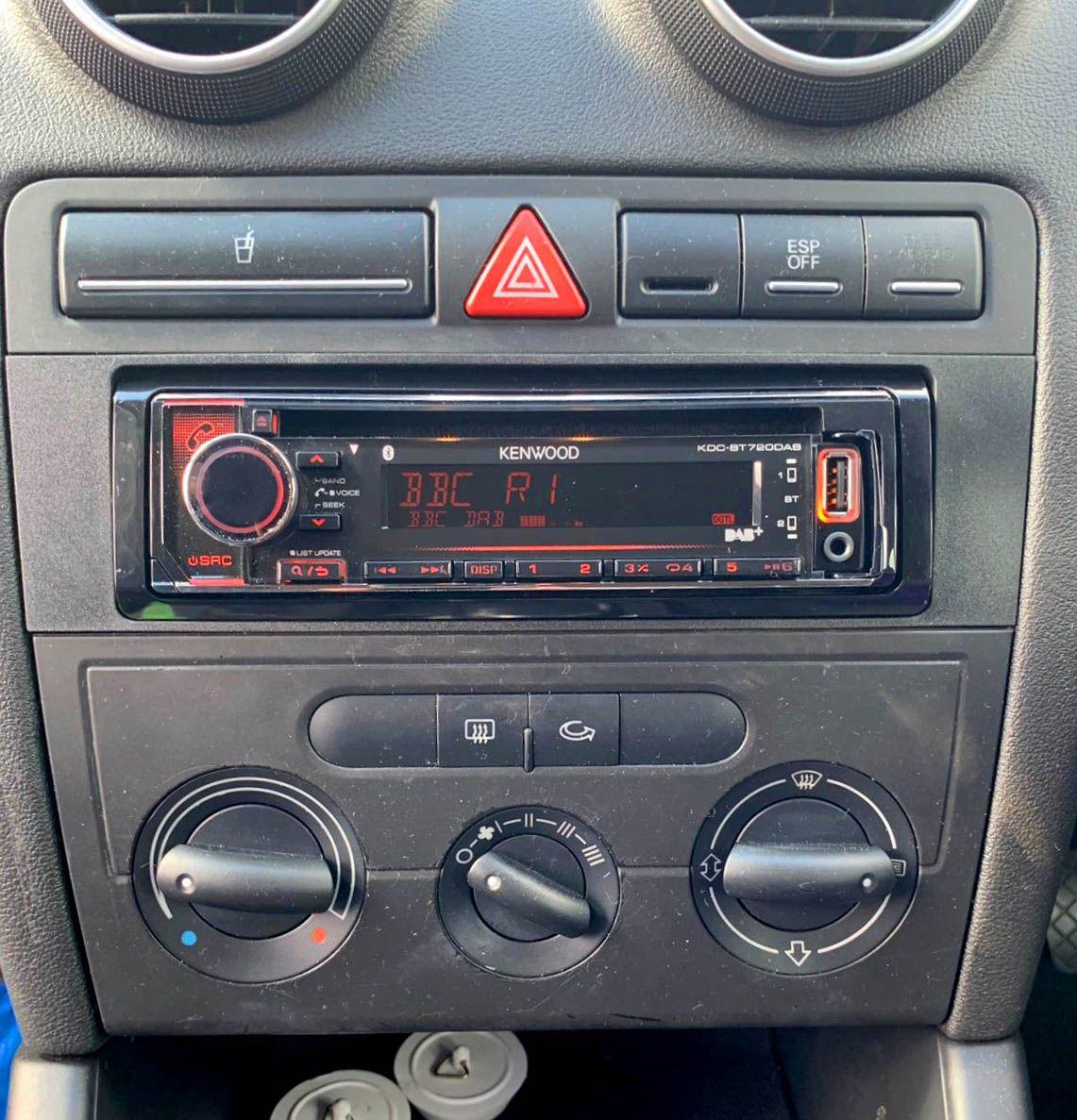 Audi a3 radio new single din kenwood KDC BT720DAB