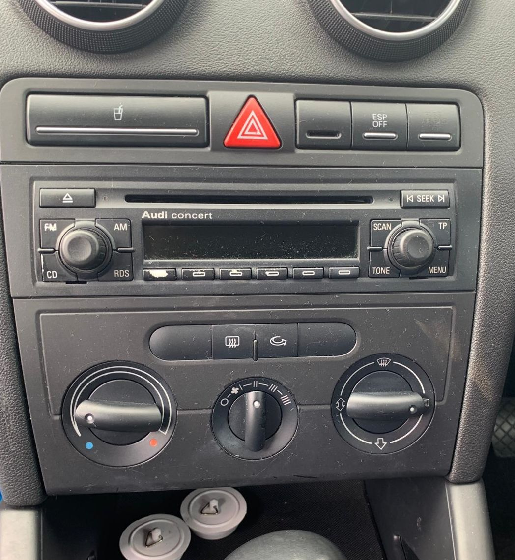Audi A3 before new radio installation