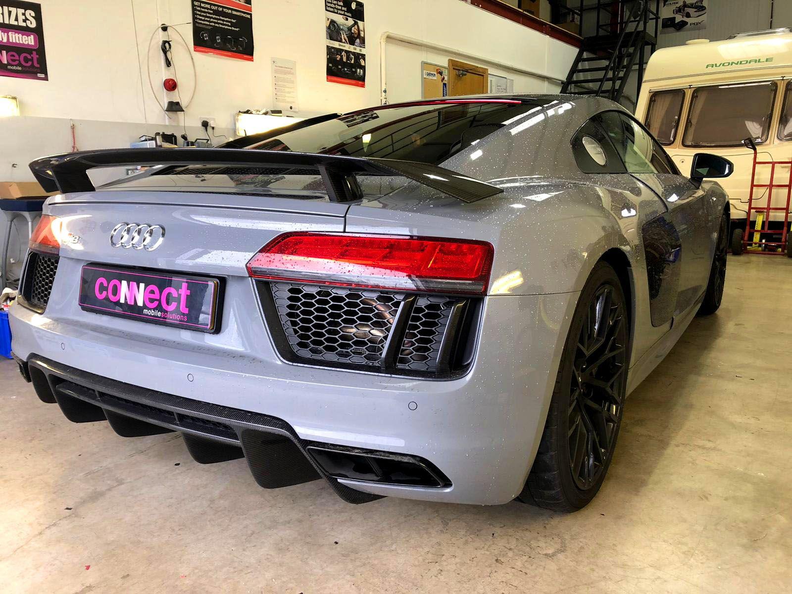 Audi R8 V10 with radar detector installed