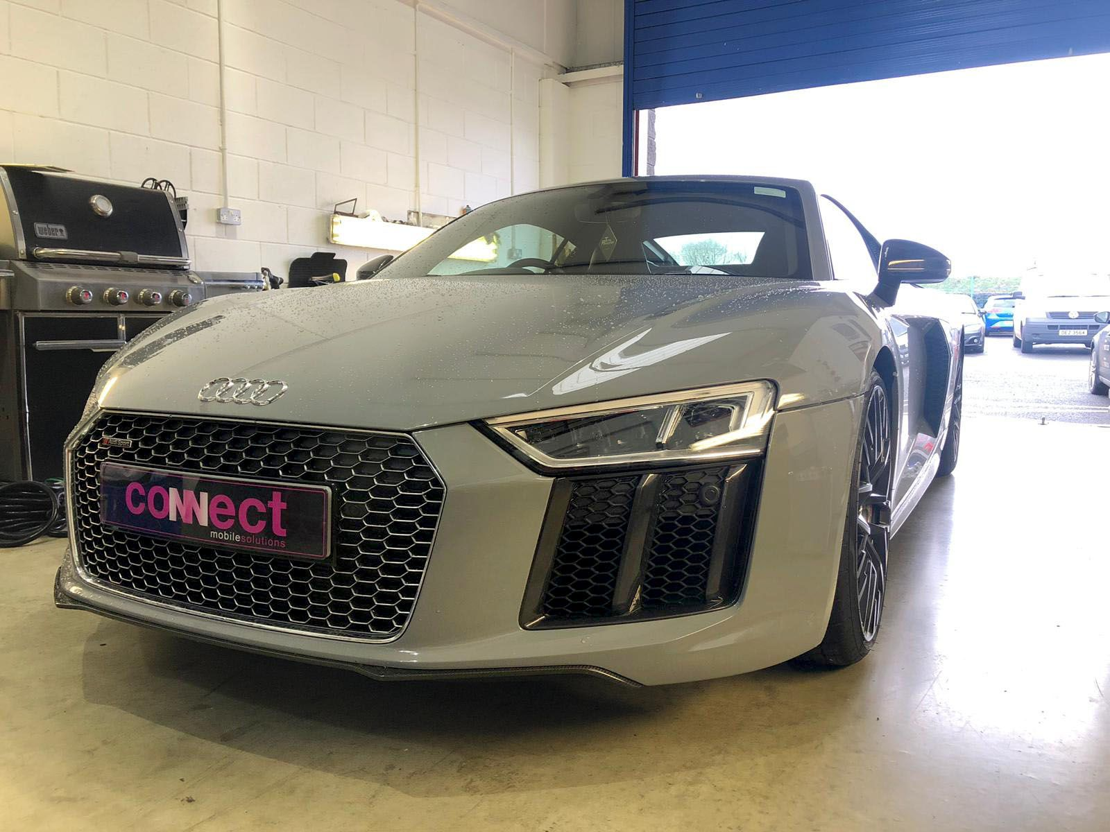 Audi R8 V10 with radar detector fitted