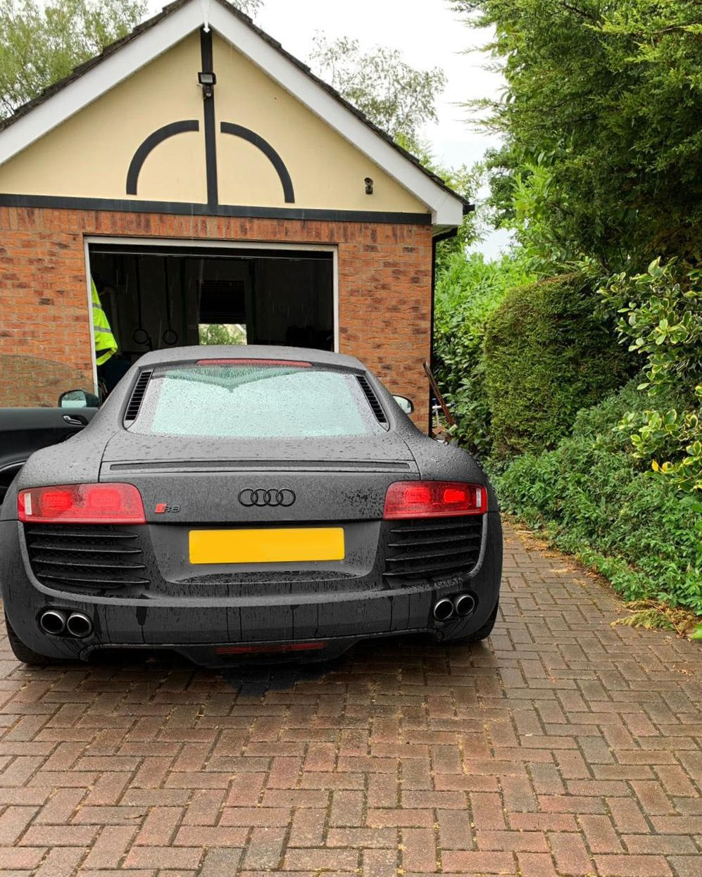 Audi R8 Matte Black in Derry before installing new radio
