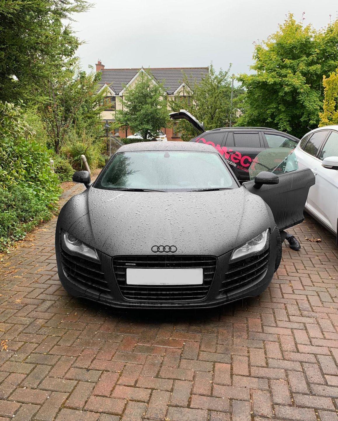 Audi R8 Matte Black before installing Apple Carplay