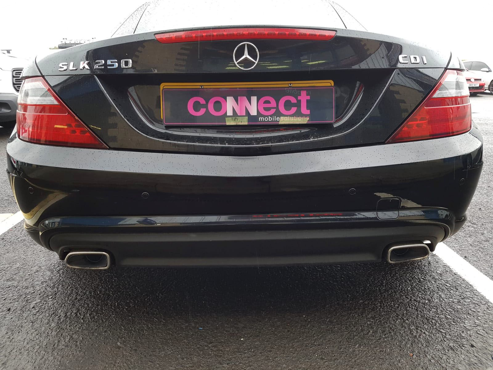 Mercedes SLK - Reversing Sensors fitted in gloss black
