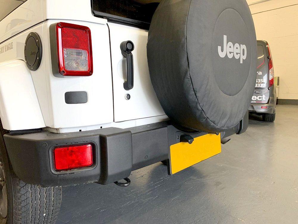 Jeep Wrangler - Close up of installed sensors