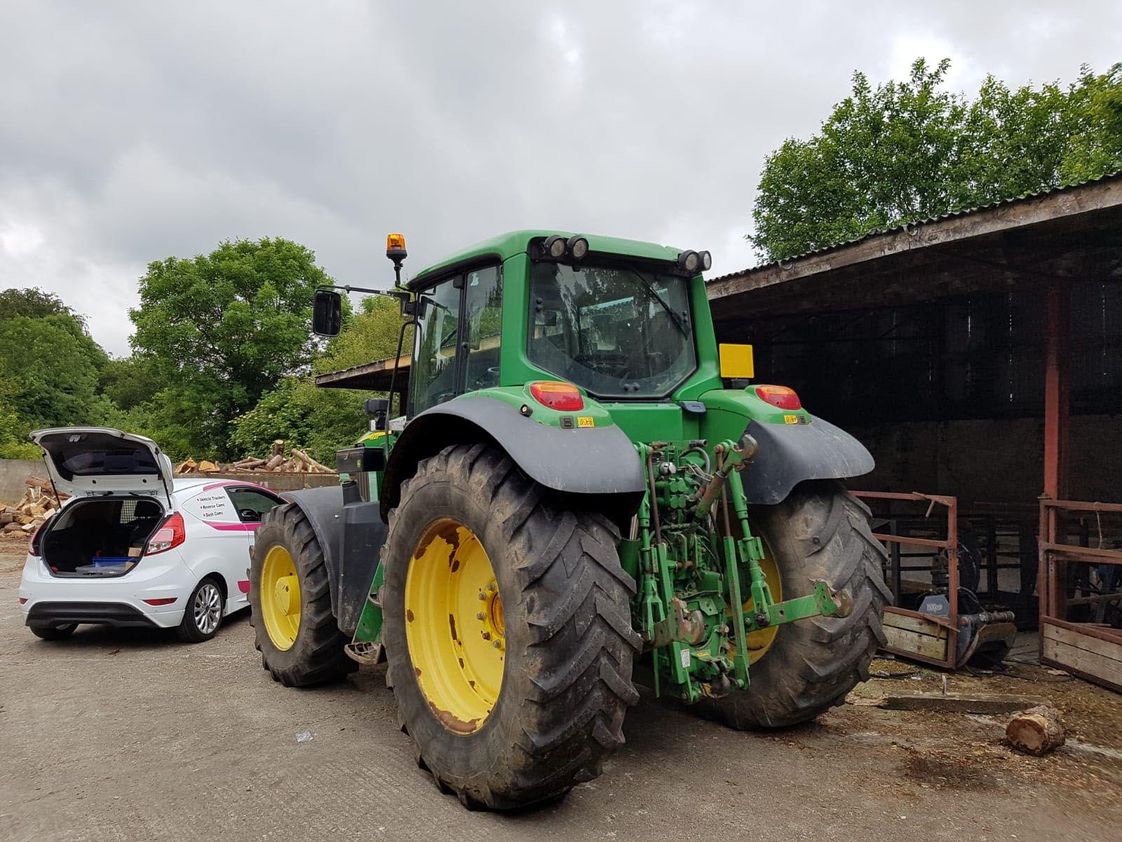 John Deere Tractor before installation of new radio