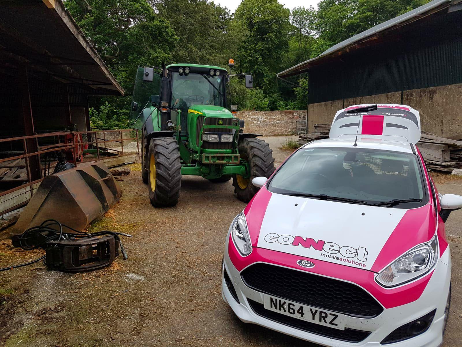 John Deer Tractor before installing new stereo