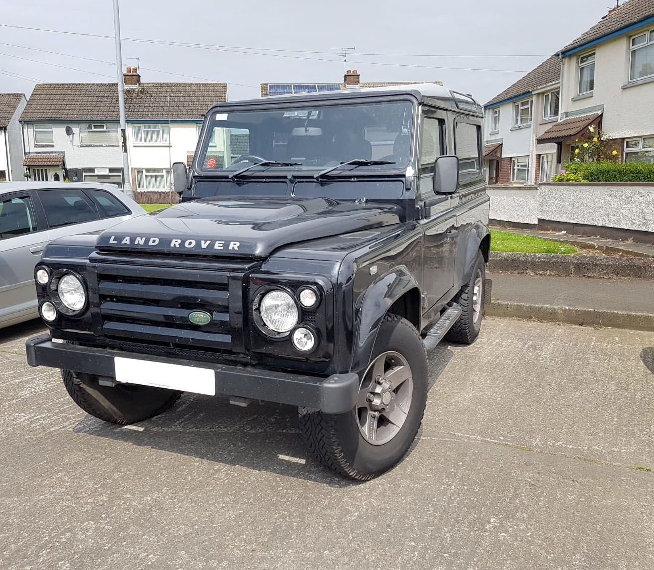 Land Rover Defender which got a radio upgrade supplied and fitted by ourselves