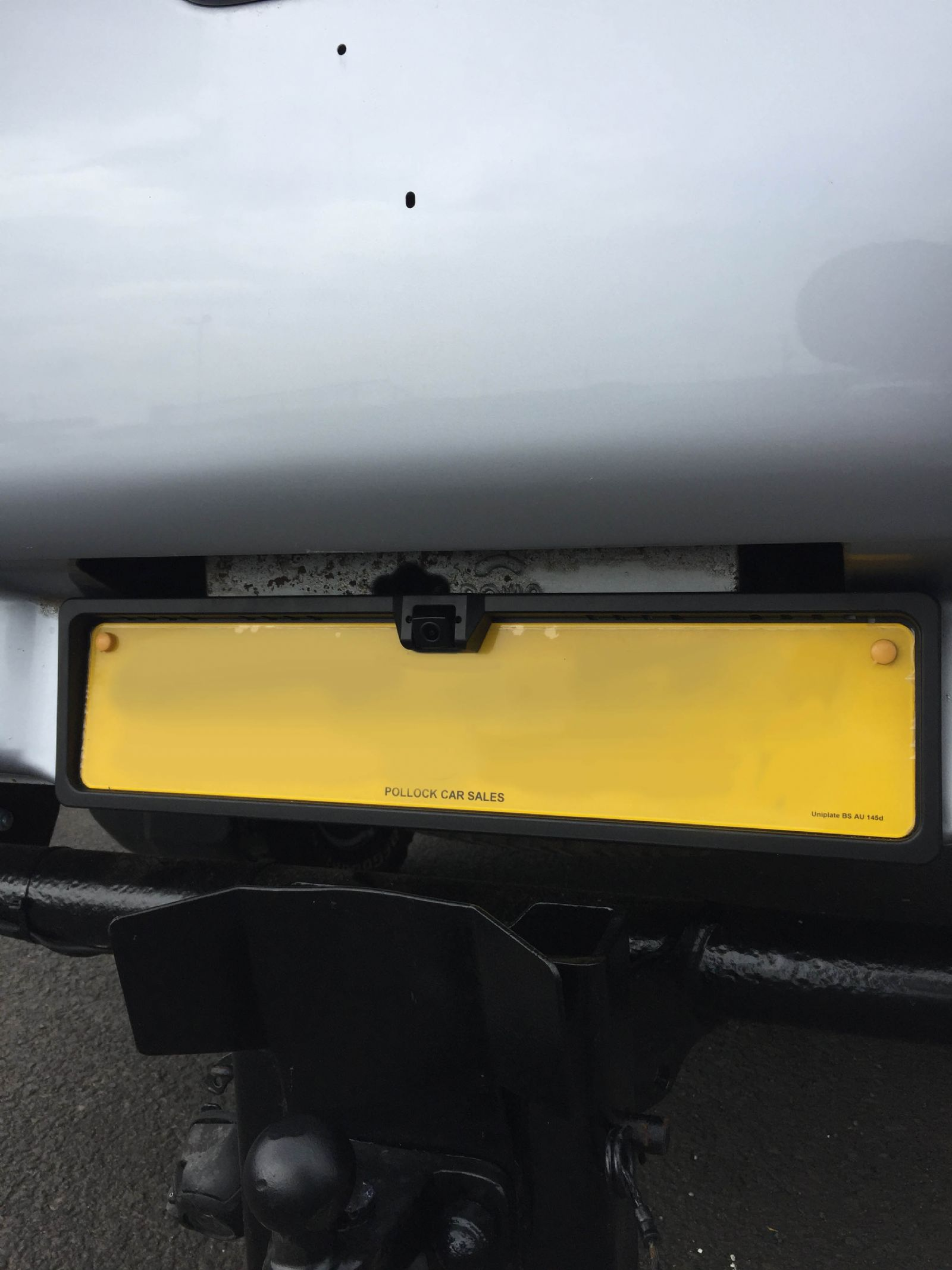 Mitsubishi L200 rear camera install on number plate