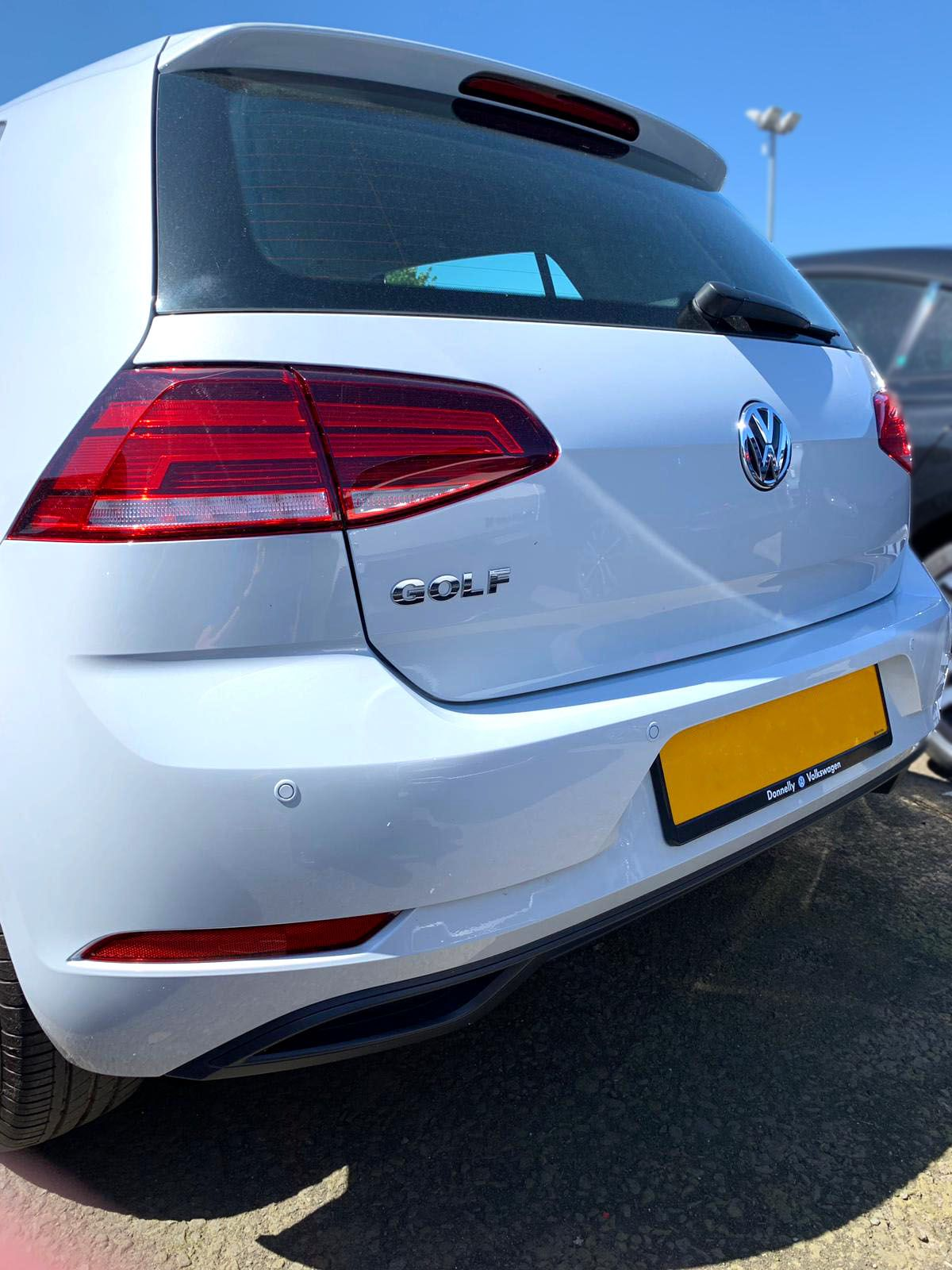 Volkswagen Golf Mk7 - Rear sensor installation painted to match cars exact paint