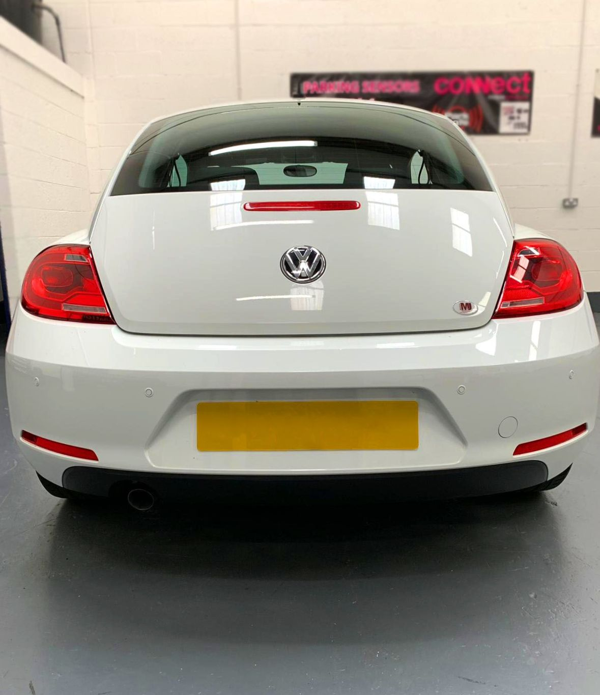 VW Beetle - New car just in to get sensors fitted
