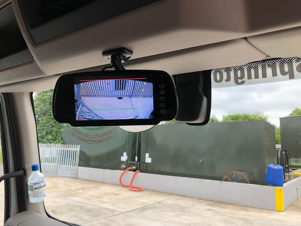 Daf Truck fitted with Reversing Camera with Mirror Monitor