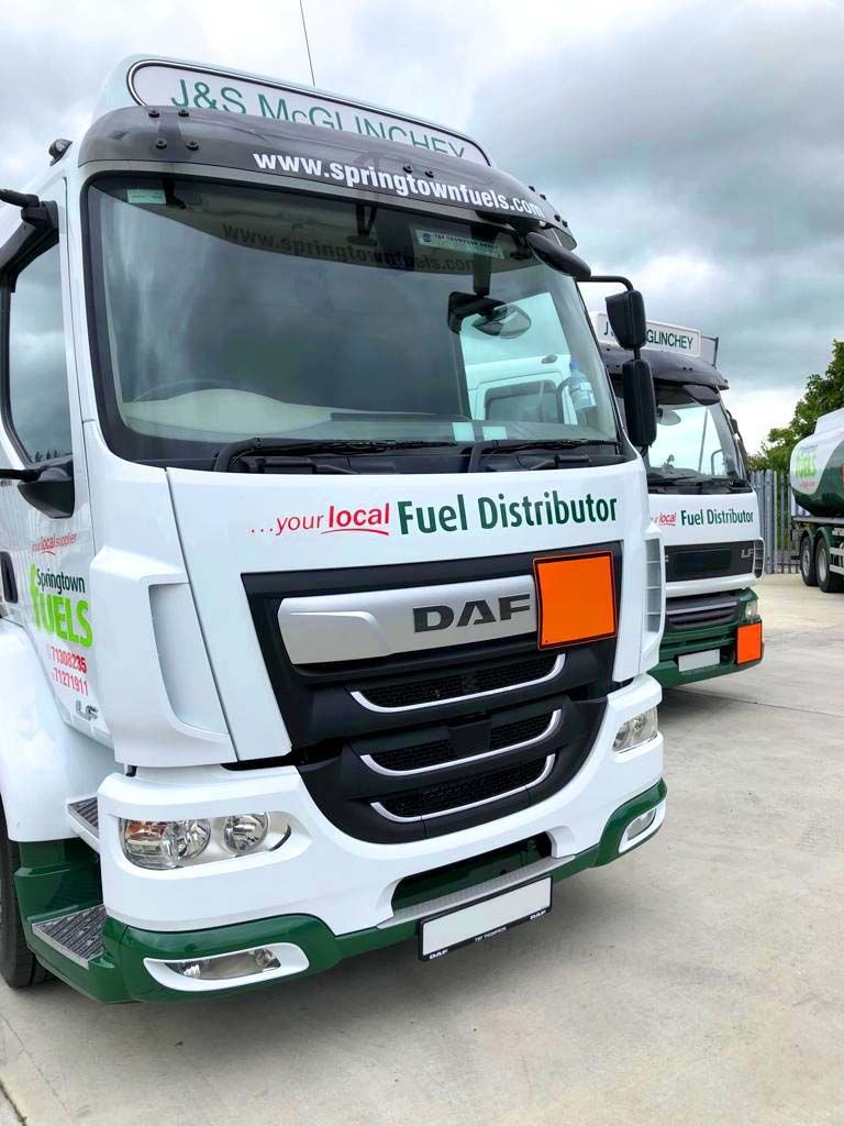 DAF Oil truck fitted with reverse cam