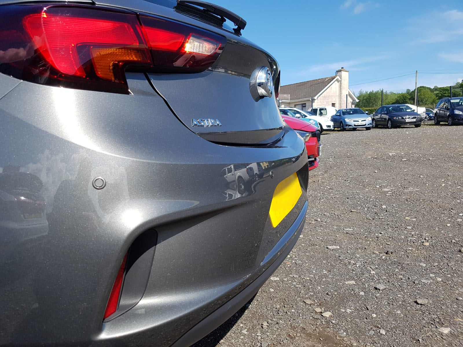 Vauxhall Astra - painted rear bumper sensors installed
