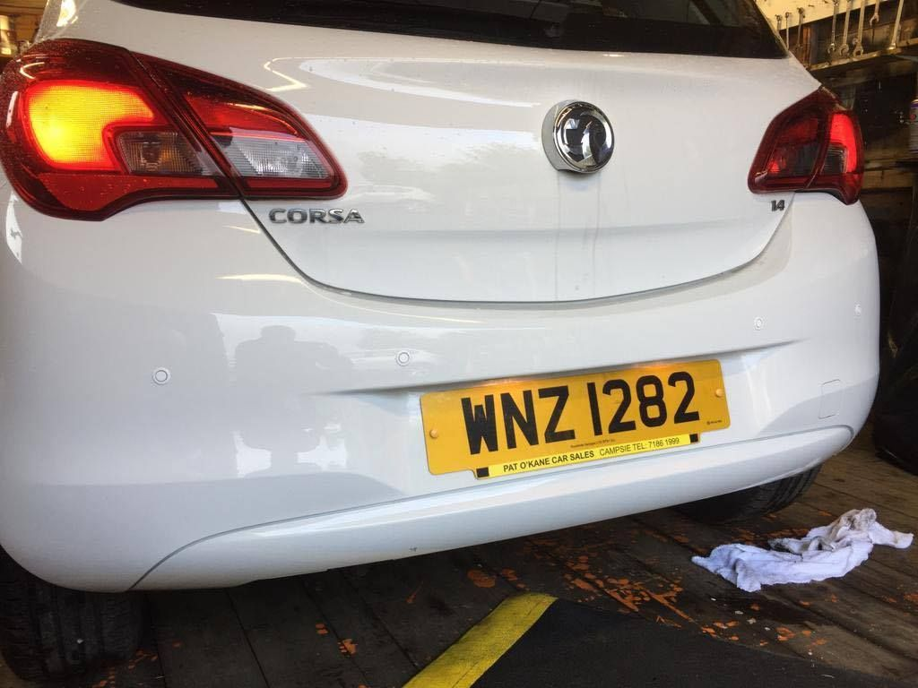 vauxhall_corsa_white_parking_sensor_fitted_maghera